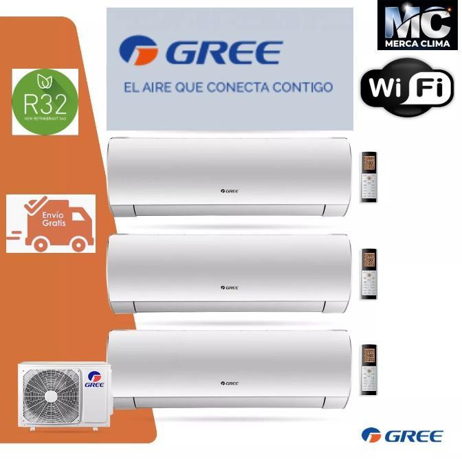 Aire Acondicionado Multi 3X1 GREE FM 24 R32 + Split FAIR 9+Split FAIR9+ Split FAIR 18