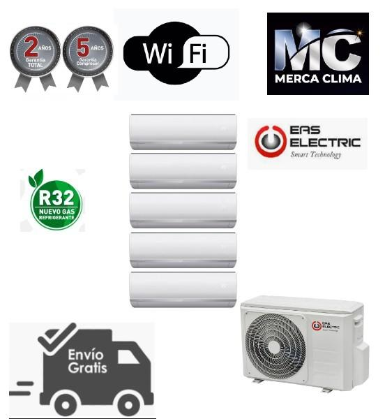 Aire multisplit 5x1 EAS ELECTRIC E5ML42 + EMX25NT + EMX25NT + EMX25NT + EMX25NT + EMX35NT R32