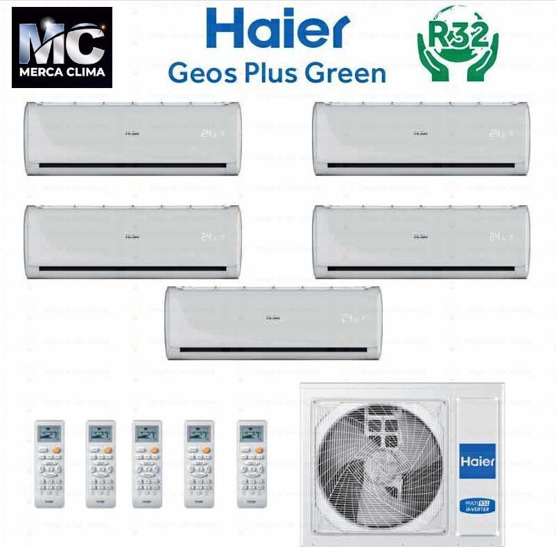 HAIER 5X1-5U105S2SR2FA + GEOS GREEN 25+25+25+25+35R32 wifi