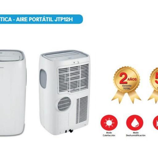 Aire Portatil JOHNSON JTP12H 2752FG Frio y Calor [1]