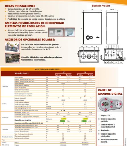 Caldera Ferroli Bluehelix Tech RRT 28 C wifi incluido [3]