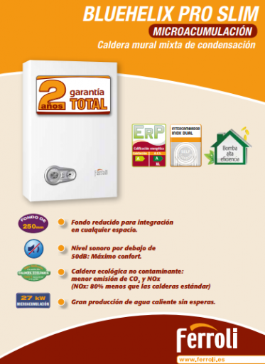 Caldera Ferroli Bluehelix Tech RRT 28 C wifi incluido [2]