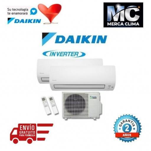 DAIKIN 3MXS52E + FTXS35K + FTXS35K - AIRE ACONDICIONADO 2X1 [0]