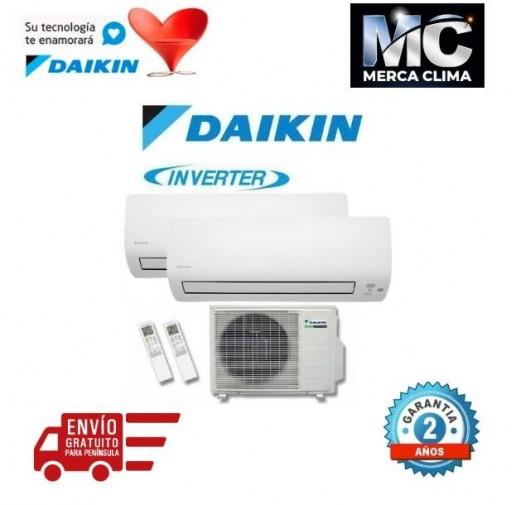 DAIKIN 2MXS50H + FTXS35K + FTXS35K - AIRE ACONDICIONADO 2X1
