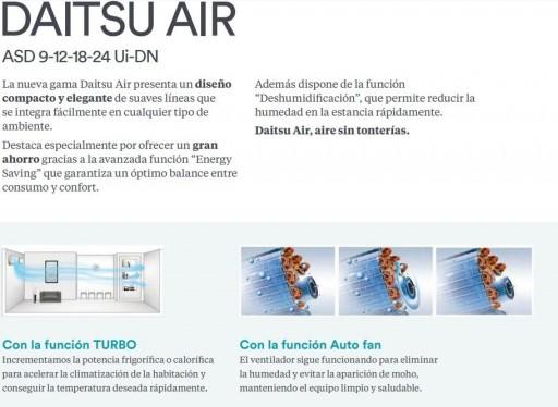 AIRE SPLIT DAITSU ASD 12UI-DN 3000/3500 A++ R410 [2]