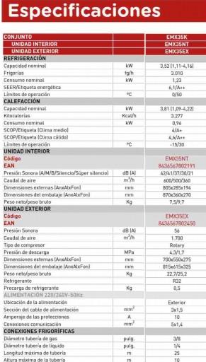 Aire Acondicionado EAS ELECTRIC  EMX35K WIFI [1]