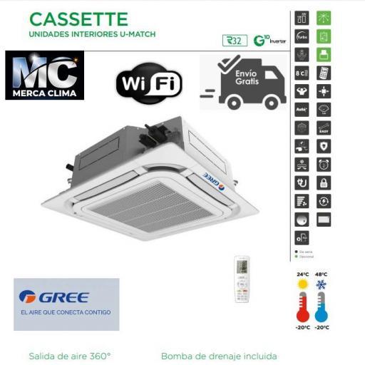 AIRE CASSETTE GREE UM CST 12 R32 WIFI