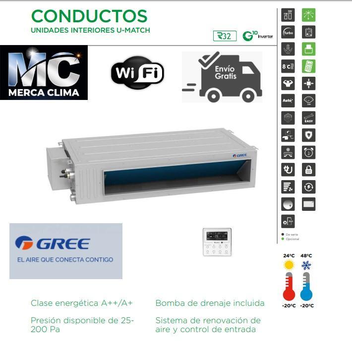 AIRE CONDUCTOS GREE UM CDT 42 3F R32 TRIFASICA WIFI