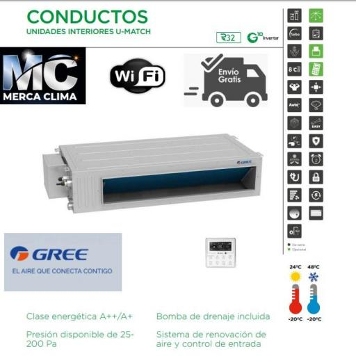 AIRE CONDUCTOS GREE UM CDT 60 F3 R32