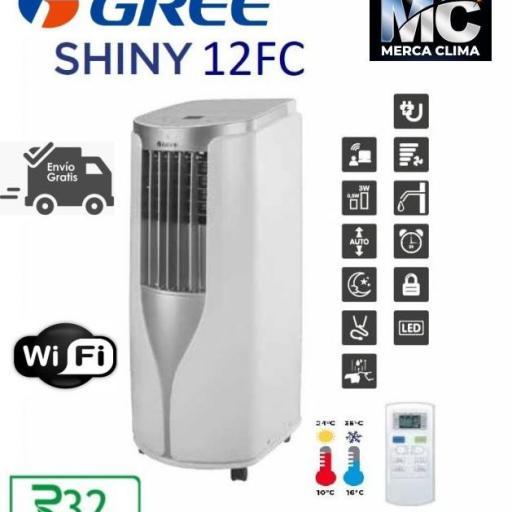 Aire Acondicionado Portátil GREE  SHINY 12FC bomba de calor