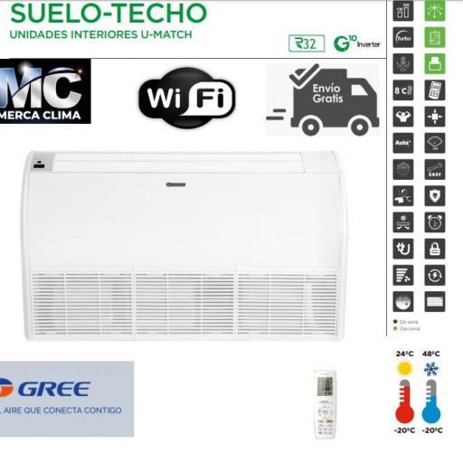 Aire Suelo Techo GREE UM ST 48 3F R32 WIFI