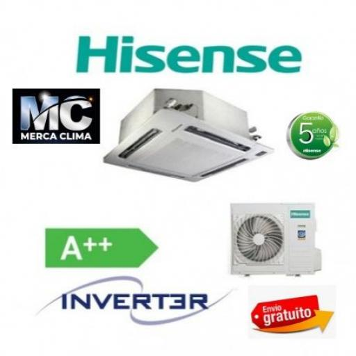 Hisense AUC140UR6RPHB4 wifi Aire Acondicionado Cassette - Trifásico