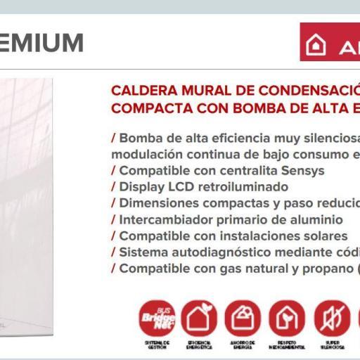Caldera de condensación Ariston HS Premium 24+ termostato  chaffoteaux [1]