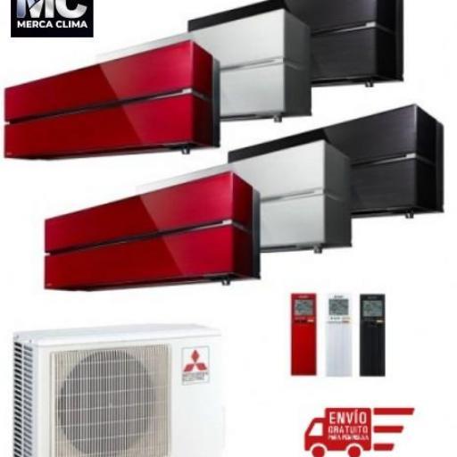 Mitsubishi Electric MXZ-2F53VF + MSZ-LN25VG + MSZ-LN35VG - equipo 2x1 aire acondicionado