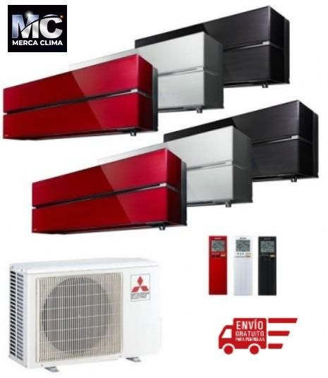 Mitsubishi Electric MXZ-2F53VF + MSZ-LN25VG + MSZ-LN25VG - equipo 2x1 aire acondicionado