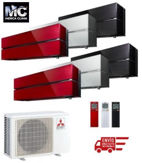 Mitsubishi Electric MXZ-2F42VF + MSZ-LN25VG + MSZ-LN35VG - equipo 2x1 aire acondicionado