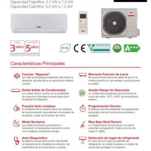 Riello Carrier AARIA AMW 70QP R32 split wifi incluido [1]