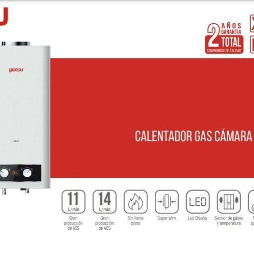 Calentador Atmosférico Sena 11L GLP Giatsu [1]