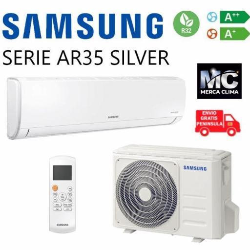 Aire Acondicionado Split Samsung F-AR12RT SILVER Instalación Incluida