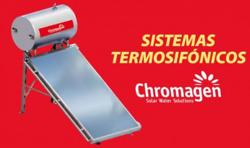 Sistema solar de termosifón Chromagen TSA 300 PRO+RESISTENCIA+TERMOSTATO [1]