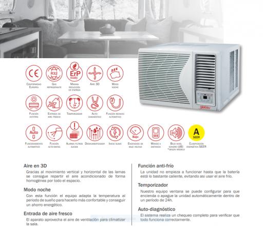AIRE VENTANA GIA-W-12W1 3100  Frio/Calor [1]