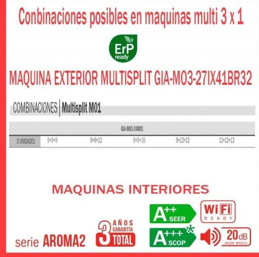 Aire acondicionado 2X1 GIATSU GIA-MO3-21IX41BR32+9AR2R32+18AR2R32 [1]