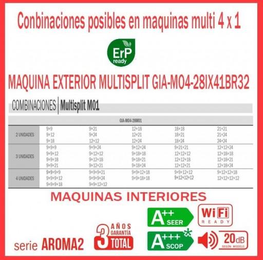Aire acondicionado 4x1 GIATSU GIA-MO4-28IX41BR32+ GIA-09R32+ GIA-09R32+ GIA-09R32 + GIA-09R32 Wifi [1]