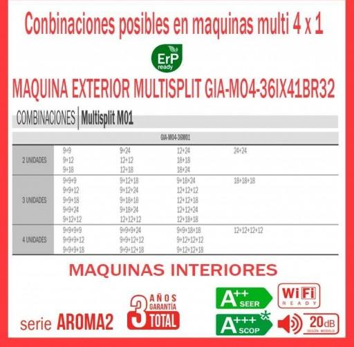 Aire acondicionado 4x1 GIATSU GIA-MO4-36IX41BR32+ GIA-09R32+ GIA-09R32+ GIA-09R32 + GIA-09R32 [2]