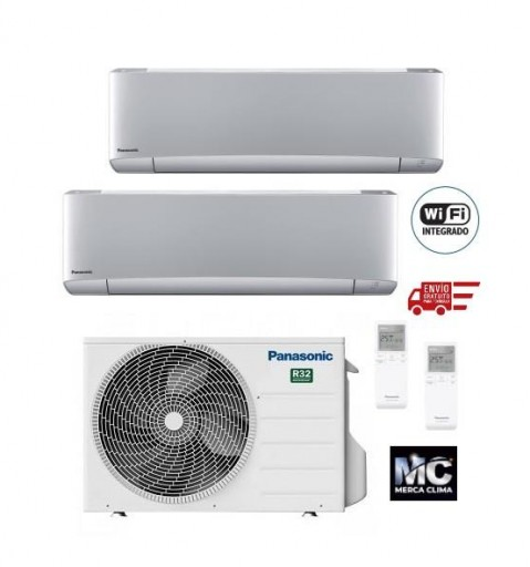 Panasonic KIT-2XZ2035-VKE Etherea 2x1 Plateado