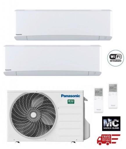 Panasonic KIT-2Z2525-TBE Etherea 2x1 Blanco mate