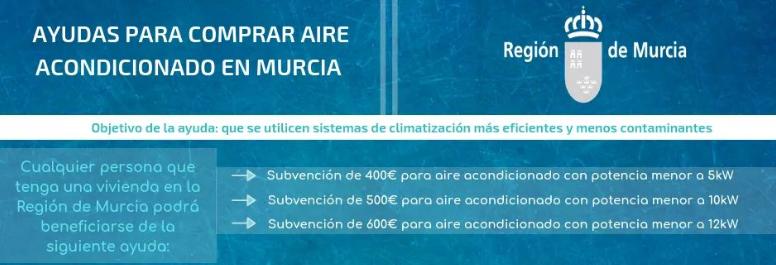 AYUDA RENOVAR AIRE ACONDICIONADO REGIÓN DE MURCIA