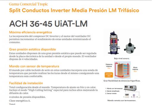 HIYASU Ach 54 UiAT-LH tipo Conducto Inverter Trifásico [1]