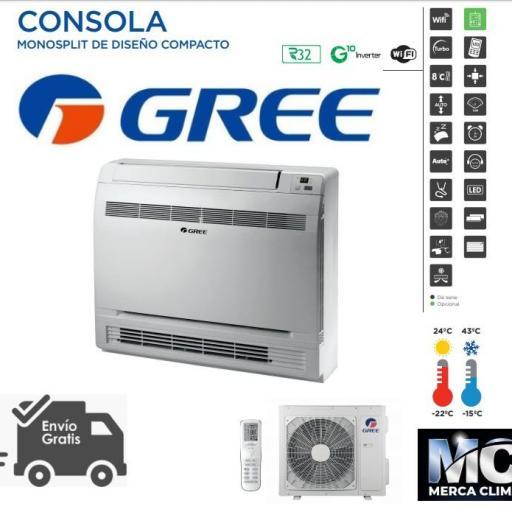 Aire GREE Consola 18 R32 wifi