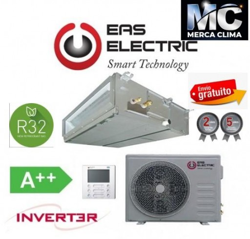 EAS ELECTRIC EDM 90 VK 7.559 FRIG (R32) aire conductos