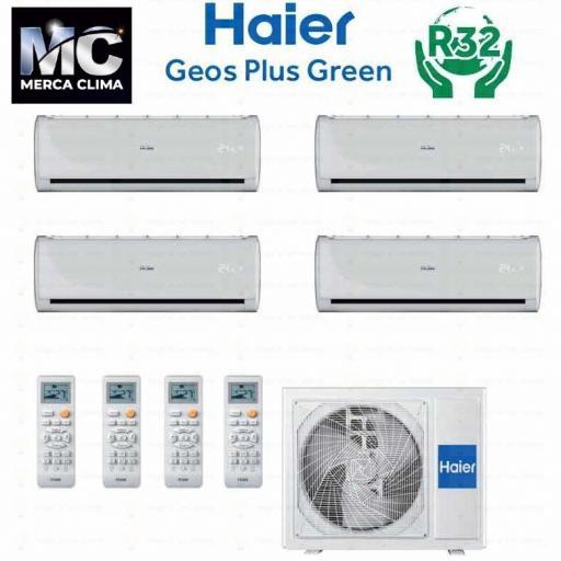 HAIER 4X1-4U85S2SR2FA + GEOS GREEN 25+25+25+50 wifi