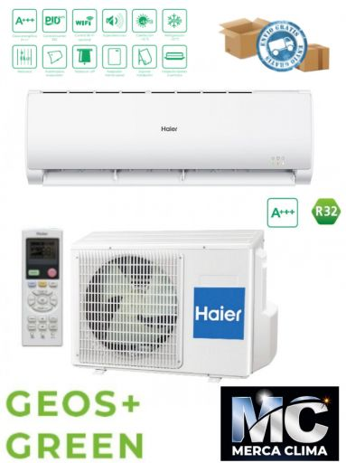 HAIER SPLIT GEOS+ GREEN 35 R32 wifi incluido