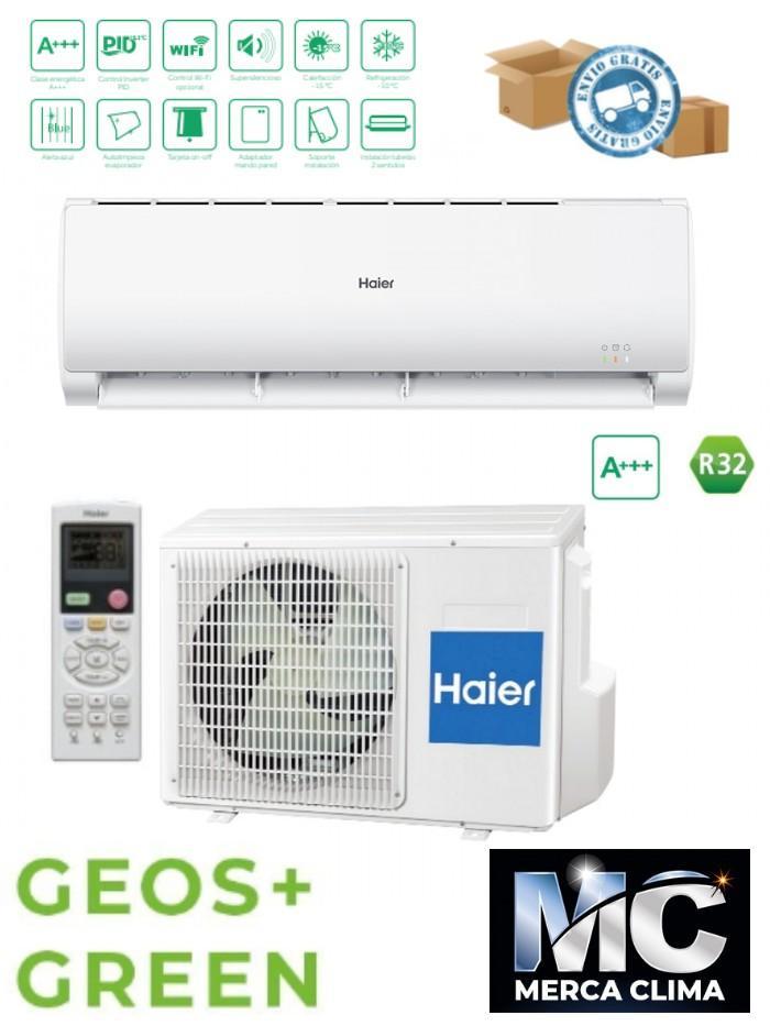 HAIER SPLIT GEOS+ GREEN 35 R32 wifi  Instalacion incluida