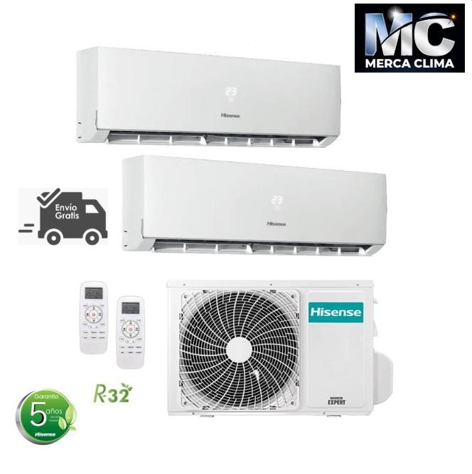 Hisense 2AMW40U4RXA + DJ25VE0AG + DJ35VE0AG WIFI Aire Acondicionado 2x1