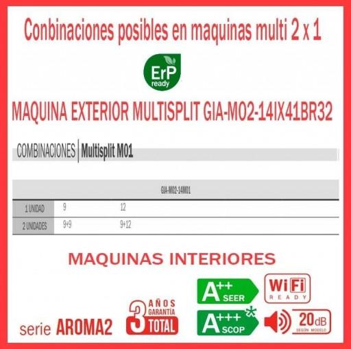 AIRE ACONDICIONADO 2x1 GIATSU GIA-MO2-14IX41BR32+09AR2R32+09AR2R32 wifi incluido [1]