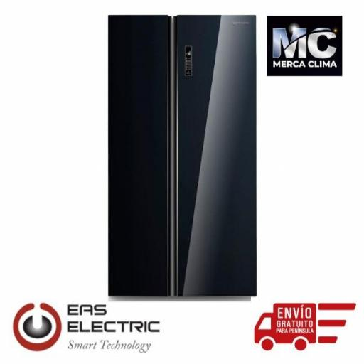 SIDE BY SIDE EAS ELECTRIC NF A+ 179X89,5CM DISPLAY LED CRISTAL NEGRO