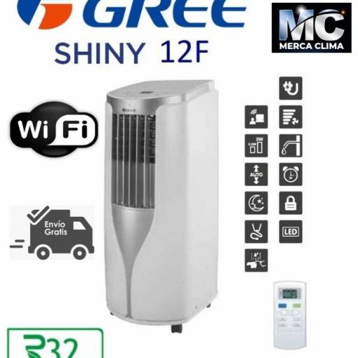 Aire Acondicionado Portátil GREE SHINY 12 r32