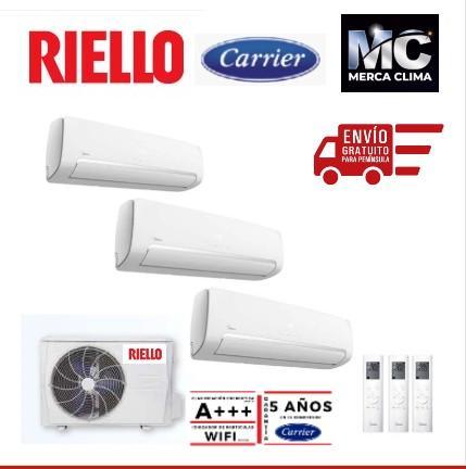 Aire acondicionado 3x1 Riello AIX360HIM8+WR135HJM8+WR120HJM8-1+WR120HJM8-1