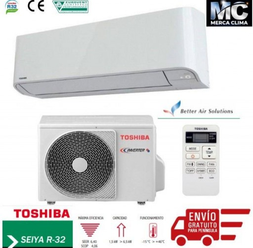 Aire acondicionado Split Toshiba SEIYA 10 R32 [0]