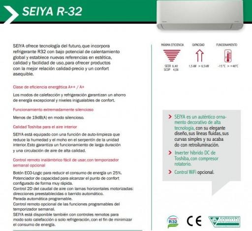 Aire acondicionado Split Toshiba SEIYA 13 R32 [2]