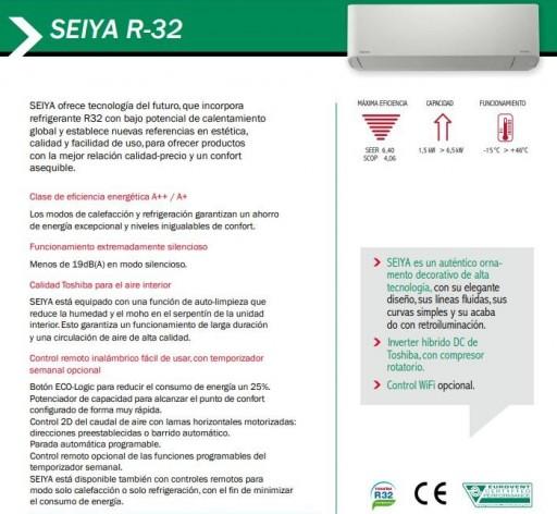 Aire acondicionado Split Toshiba SEIYA 16 R32 [3]