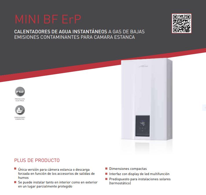 CALENTADOR DE GAS ESTANCO SIME MINI 12 BF ErP butano