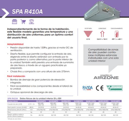 TOSHIBA SPA INVERTER 140 - AIRE ACONDICIONADO CONDUCTOS [2]