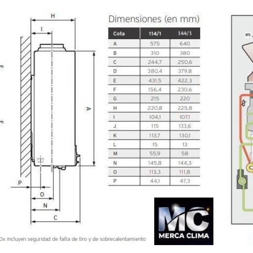 Calentador Vaillant atmoMAG  bajo NOX 114/1 GAS BUTANO [2]
