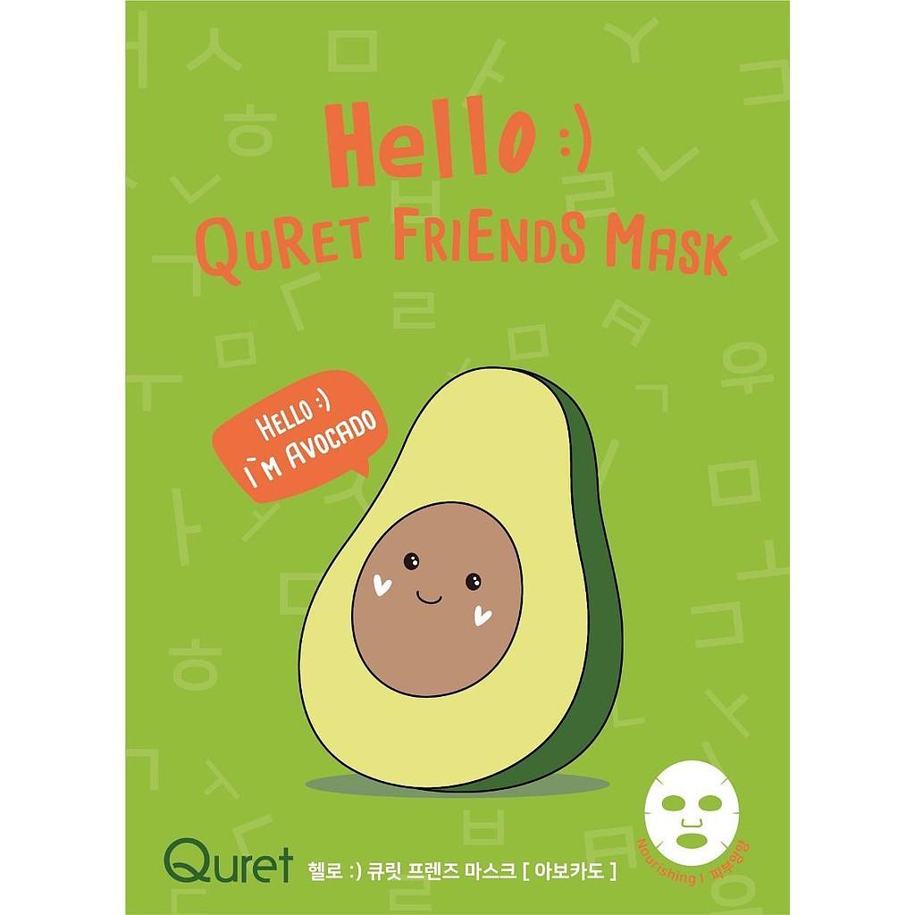 Hello :) Quret Friends Mask - Avocado