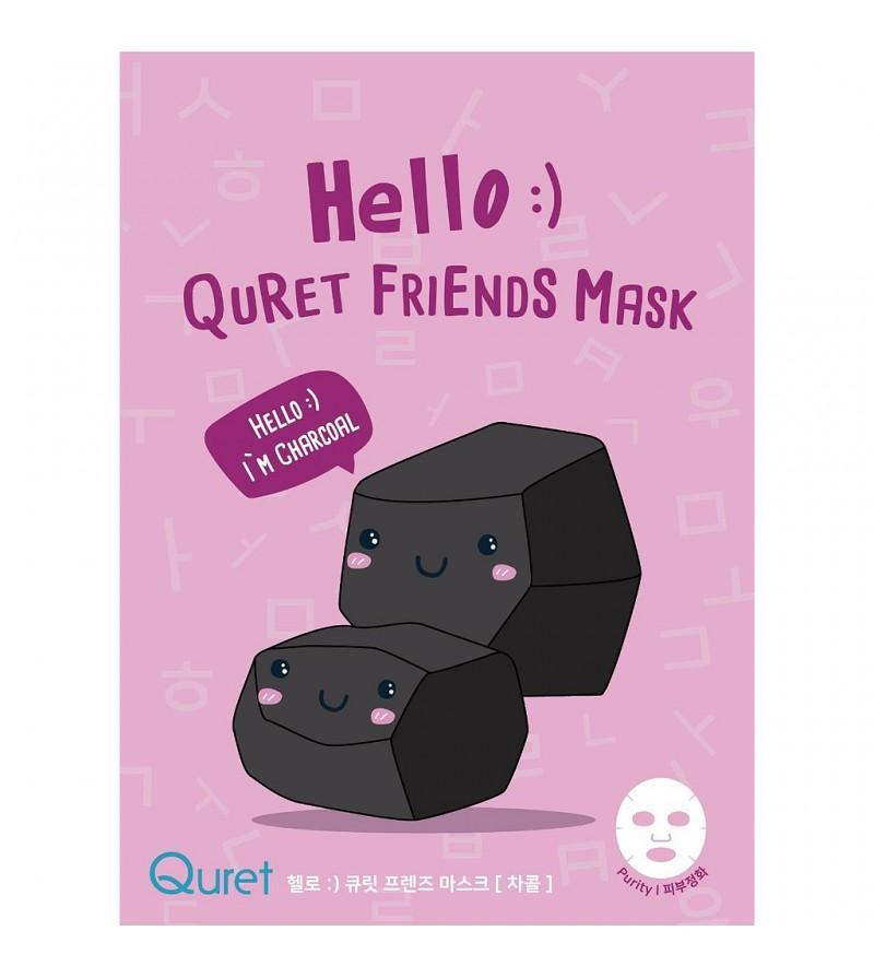 Hello:) Quret Friends Mask- Charcoal